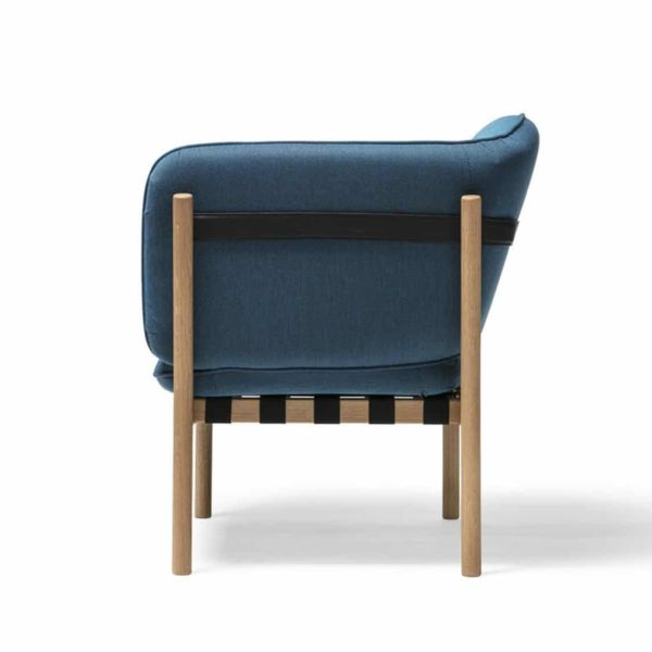 Dowel armchair DeFrae Contract Furniture Blue 3