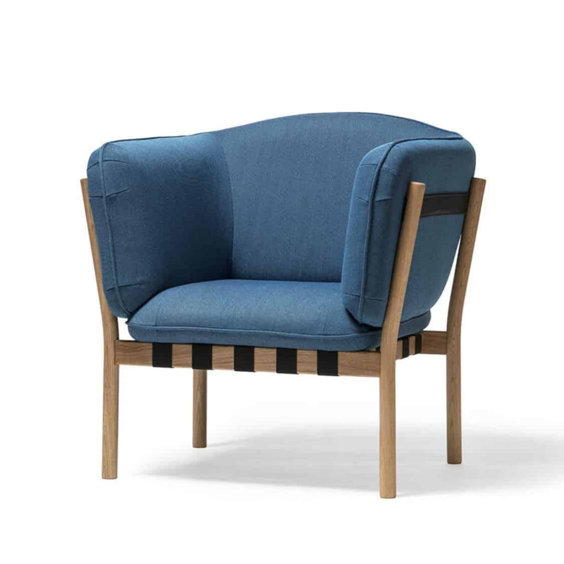 Dowel armchair DeFrae Contract Furniture Blue