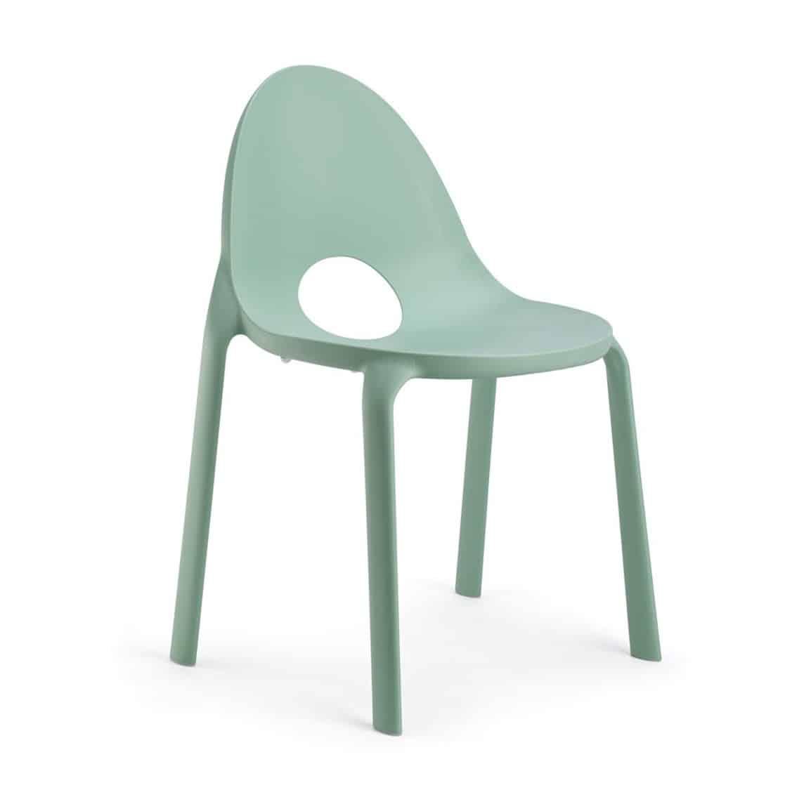 Drop Side Chair Infiniti Design at DeFrae Green Stackable