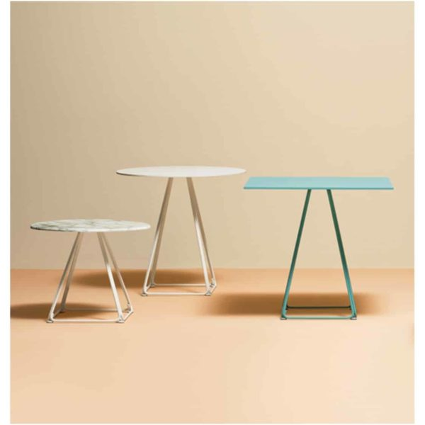 Eclipse Table base with marble top Lunar Pedrali available from DeFrae Contract Furniture