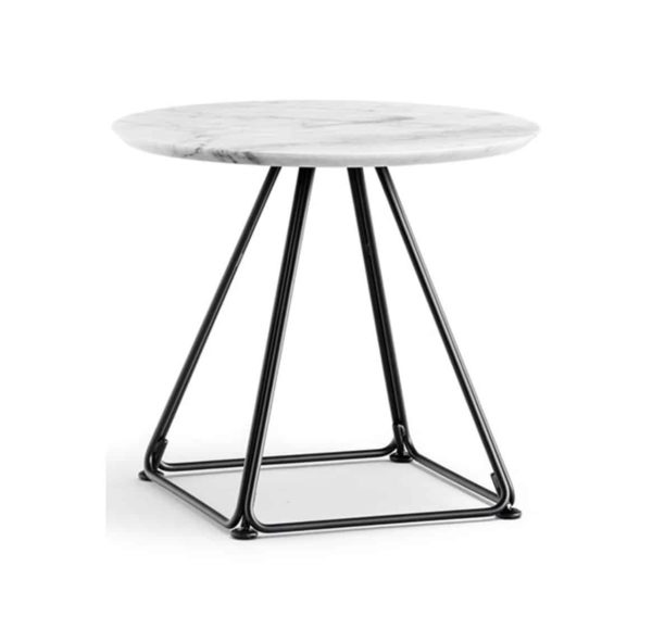 Eclipse Table base with marble top Pedrali available from DeFrae Contract Furniture