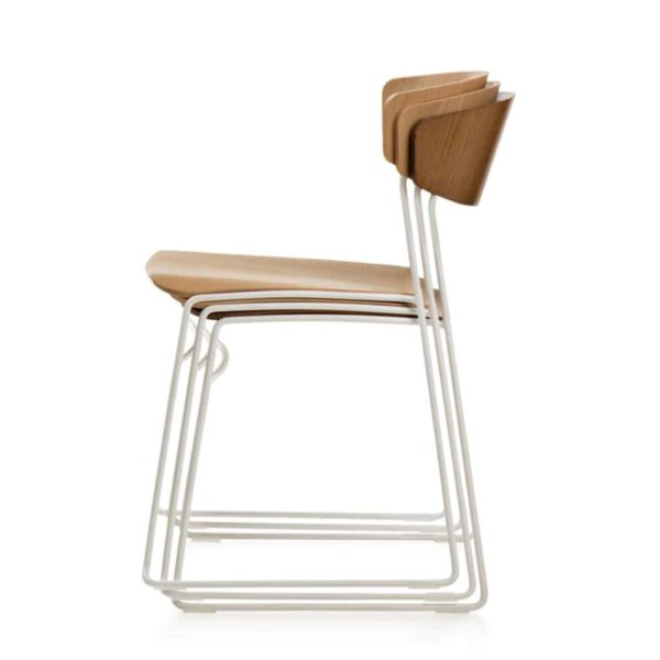 Eton side chair fornasarig Wolfgang Sled Base stackable