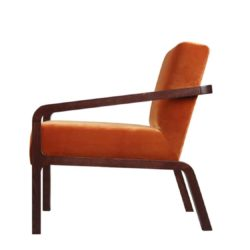 Fletcher Armchair Fleming ContractIn at DeFrae Contract Furniture Rust Velvet