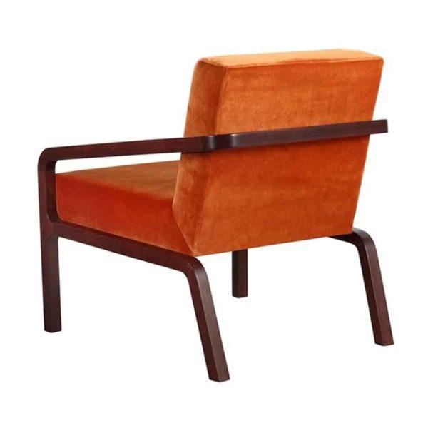 Fletcher Armchair Fleming ContractIn at DeFrae Contract Furniture Rust Velvet Back