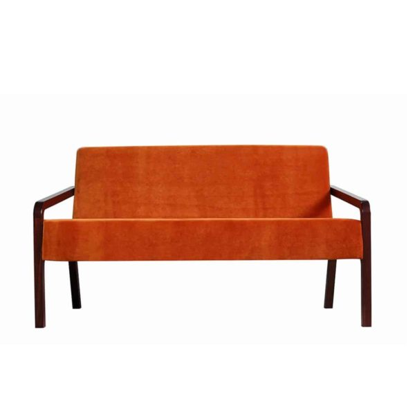 Fletcher Sofa Fleming ContractIn at DeFrae Contract Furniture Rust Velvet