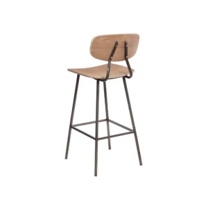 Florence Bar Stool Wood Metal Finish DeFrae Contract Furniture Back