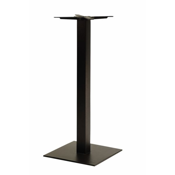 Forza square cast iron table base black Poseur height