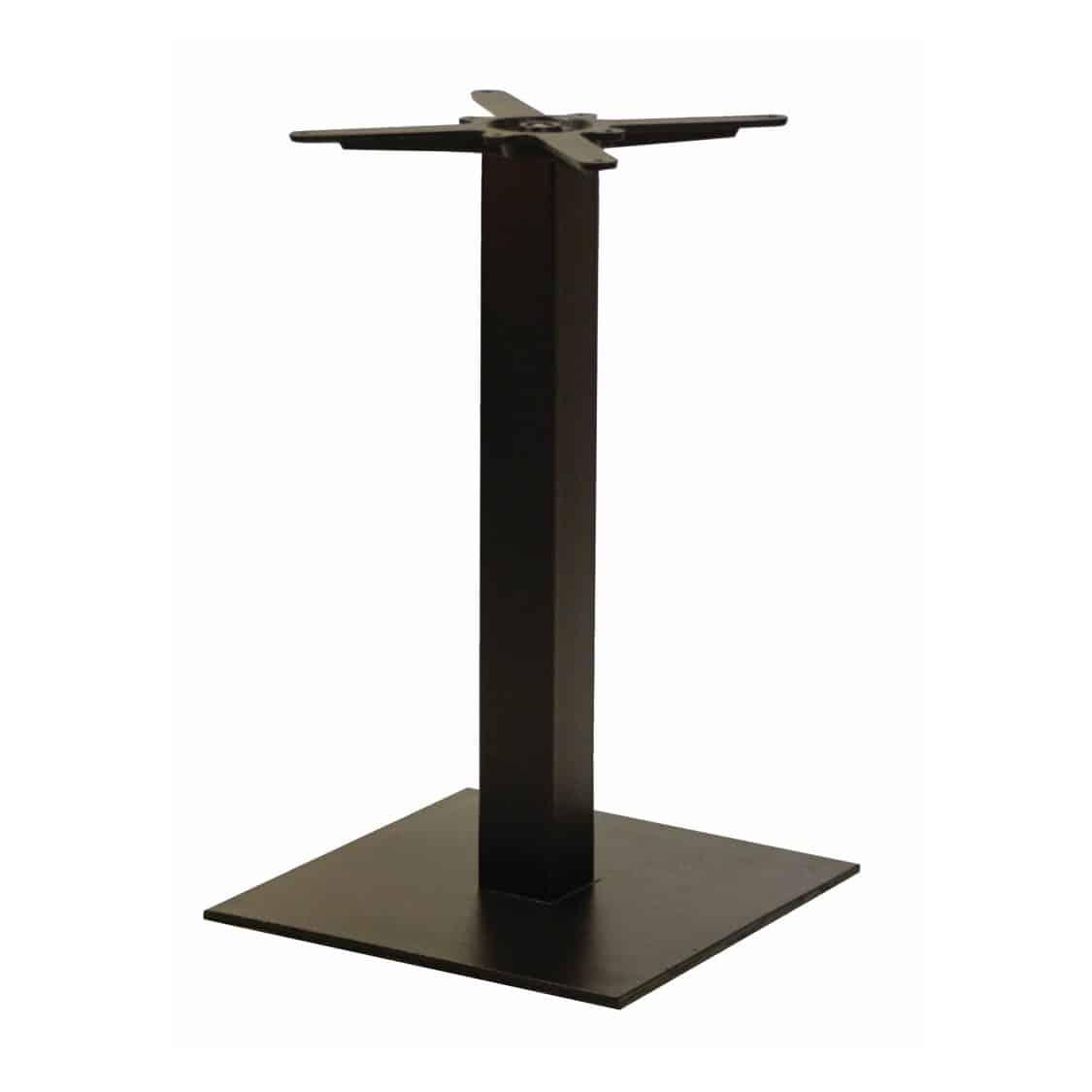 Forza square cast iron table base black