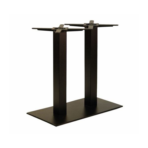 Forza twin cast iron table base black