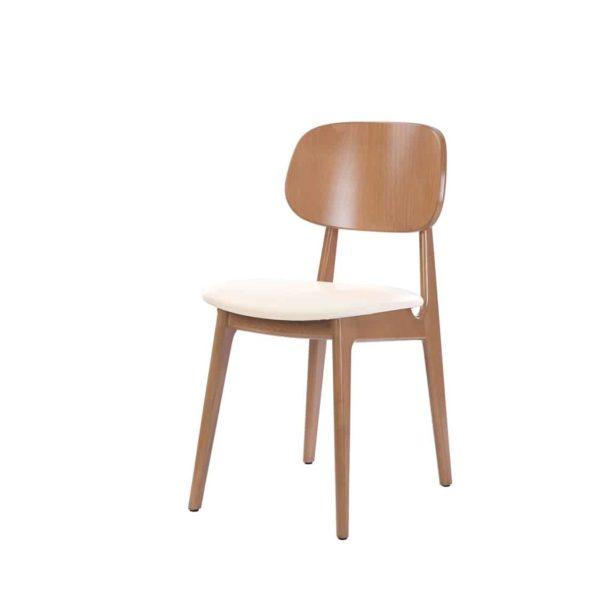 Gemini side chair DeFrae Contract Furniture Oak