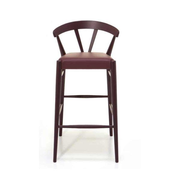 Ginger Bar Stool Wide Spindle Back Upholstered Seat DeFrae Contract Furniture