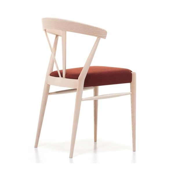 Ginger Side Chair Wide Spindle Back Upholstered Seat DeFrae Contract Furniture