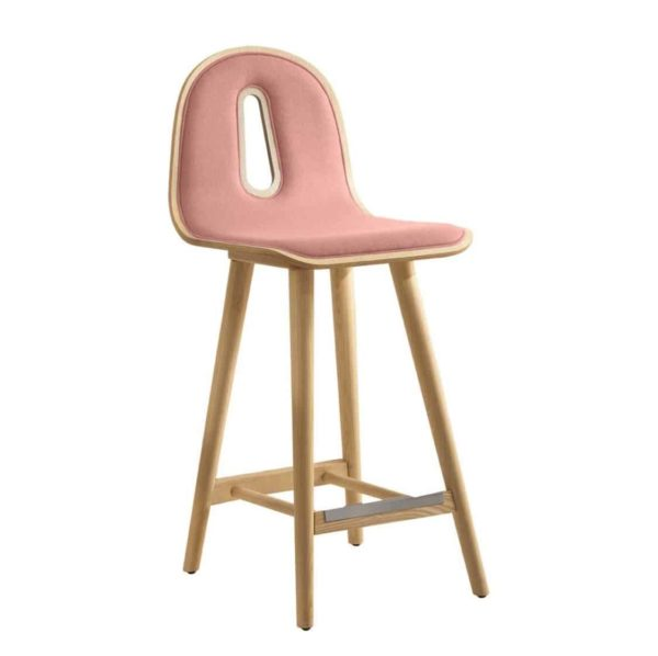Gotham Woody Bar Stool DeFrae Contract Furniture Pink