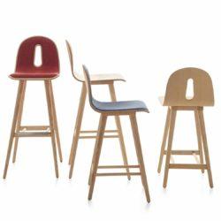 Gotham Woody Bar Stool DeFrae Contract Furniture Range