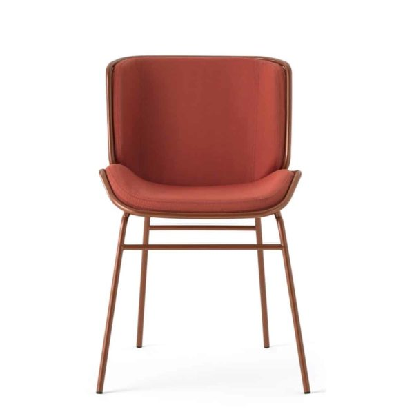 Grid Side Chair DeFrae Contract Furniture Skin Chair by TrabA Pink