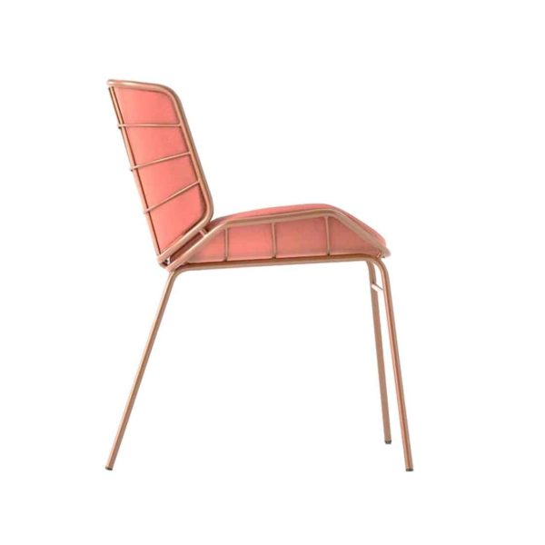 Grid Side Chair DeFrae Contract Furniture Skin Chair by TrabA Pink Side