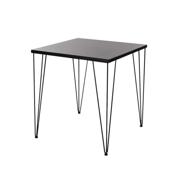 Hairpin Legs Tables by DeFrae Contract Furniture Wenge Top