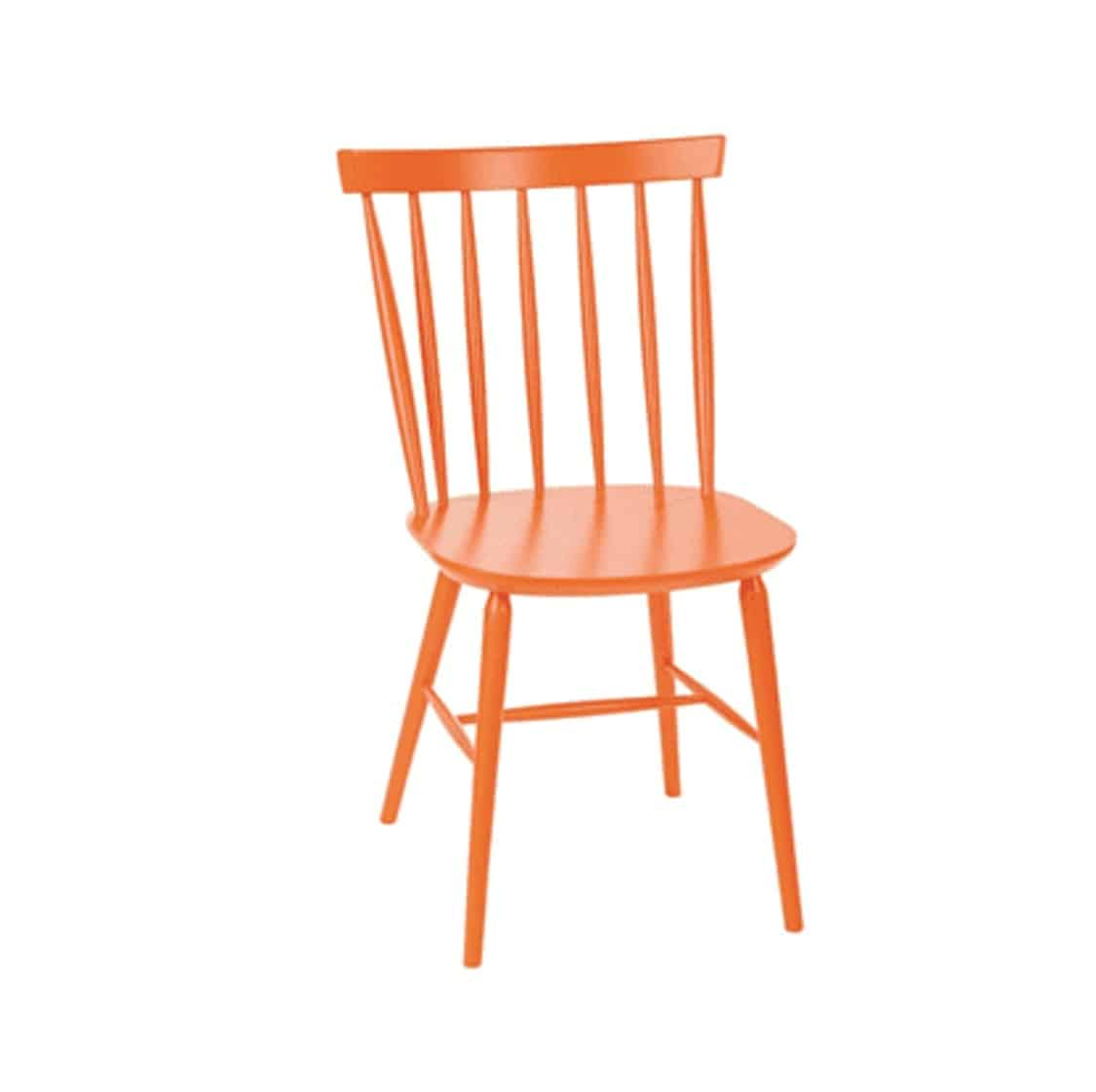 Henley Side Chair Spindle Back Wood Cottage Chair DeFrae Contract Furniture Orange