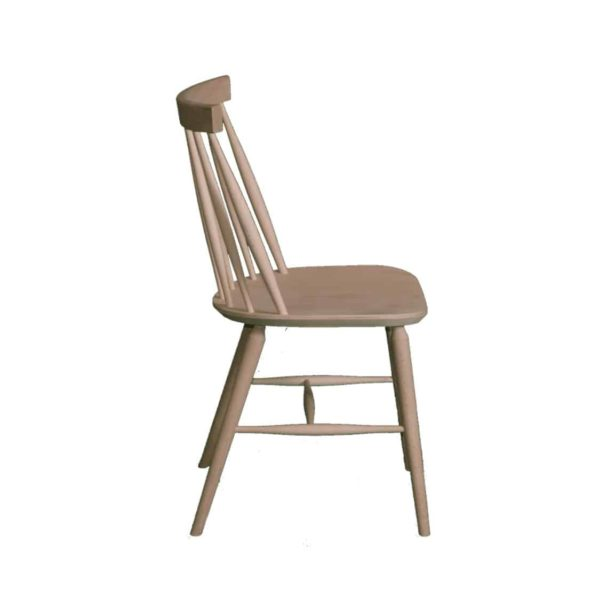 Henley Side Chair Spindle Back Wood Cottage Chair DeFrae Contract Furniture Side View