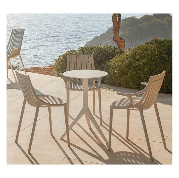 Ibiza Side Chairs Vondom DeFrae Contract Furniture Beige