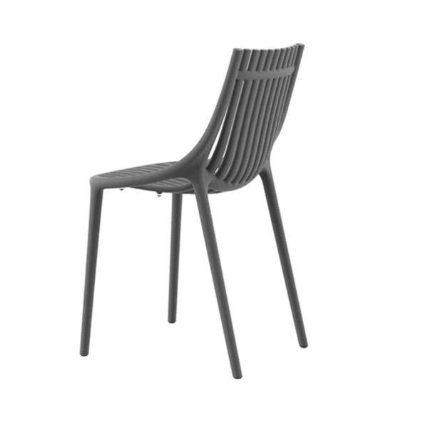 Ibiza Side Chairs Vondom DeFrae Contract Furniture Black Side View