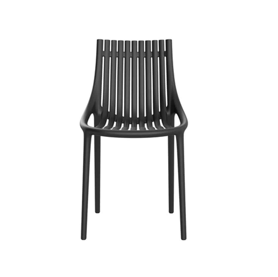Ibiza Side Chairs Vondom DeFrae Contract Furniture Black