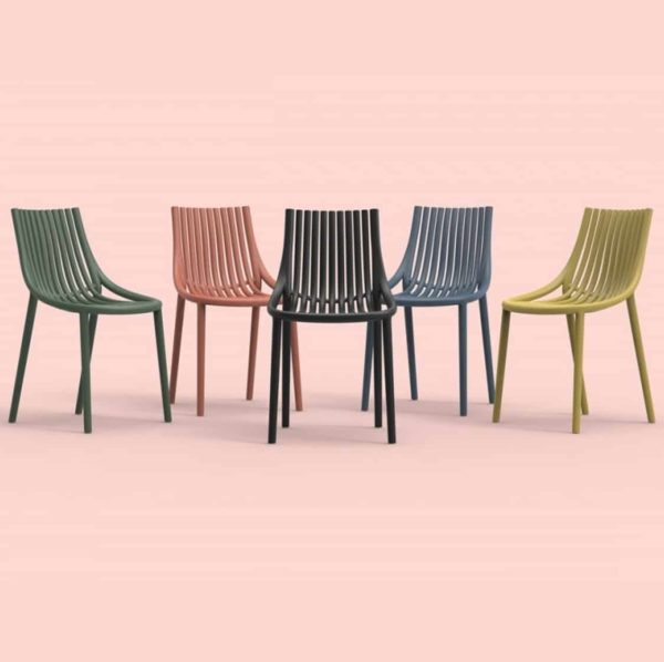 Ibiza Side Chairs Vondom DeFrae Contract Furniture Colours