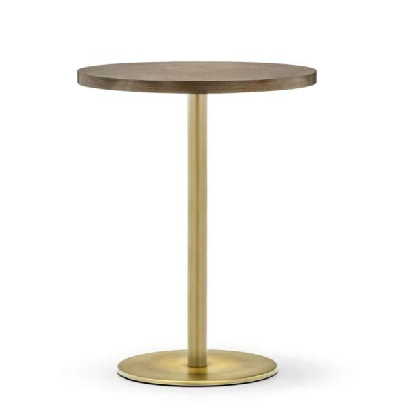 Inox Brass Tablebase Pedrali at DeFrae Contract Furniture Gold