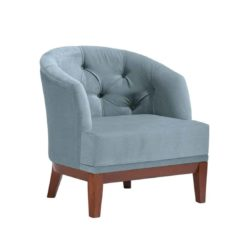 Isla Armchair DeFrae Contract Furniture Blue Button Back