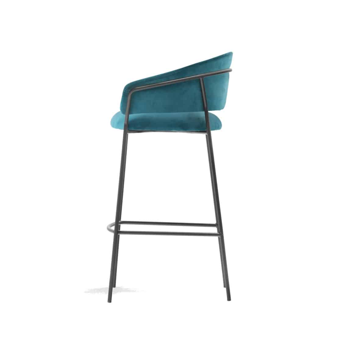Jazz Bar stool with brass tubing Pedrali available from DeFrae Contract Furniture Blue