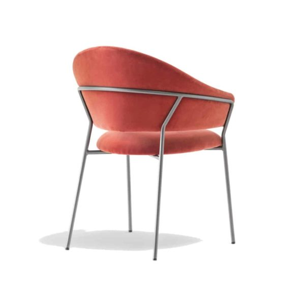Jazz Chair with metal tubing Pedrali at DeFrae Contract Furniture pink