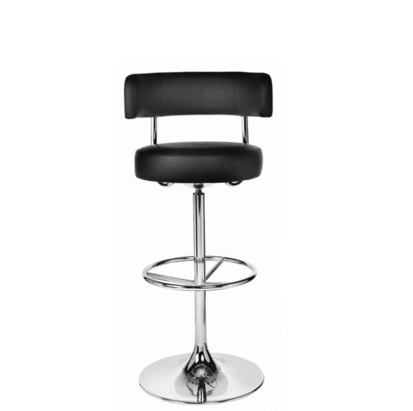 Juno Bar Stool by DeFrae Contract Furniture Jupiter Johanson Chrome Frame 2