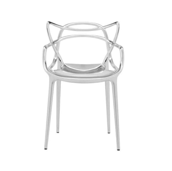 Masters chair Metallic Chrome by Kartell available from DeFrae Contract Furniture Outside furniture Silver
