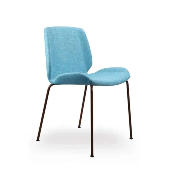 Keel side chair with metal frame DeFrae Contract Furniture