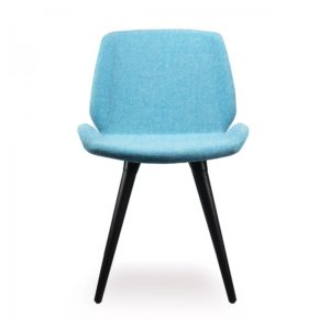 Keel side chair with wooden frame DeFrae Contract Furniture