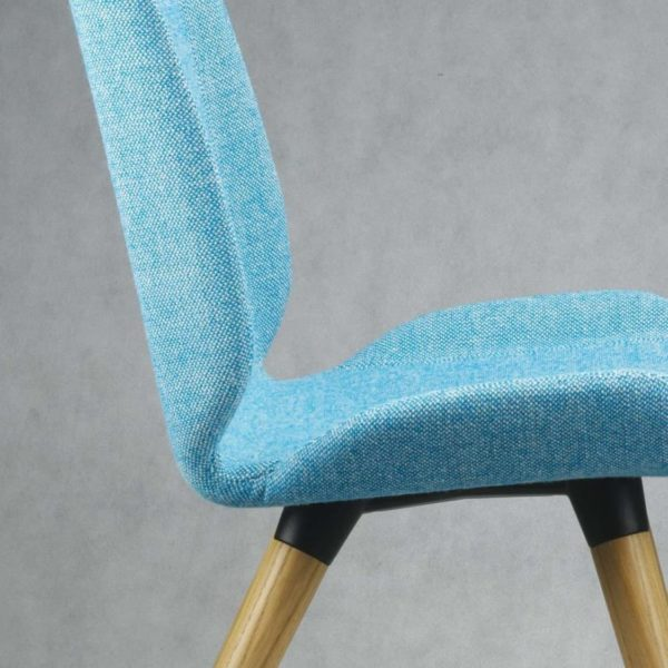Keel side chair with wooden frame DeFrae Contract Furniture Close Up