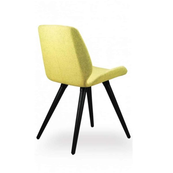 Keel side chair with wooden frame DeFrae Contract Furniture Mustard Yellow