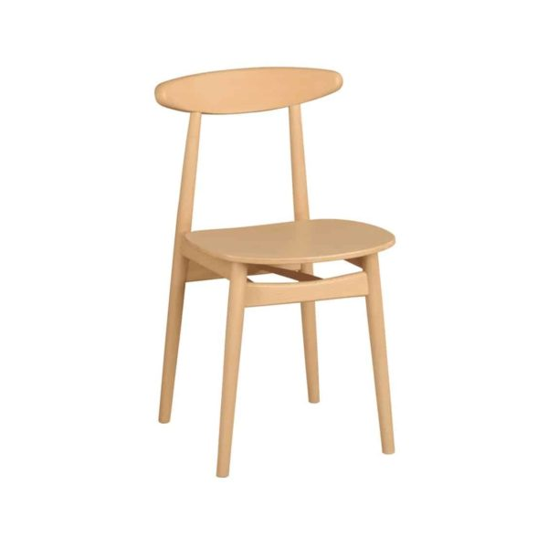 Kitty Side Chair Wood Chair With Curved Back Rest DeFrae Contract Furniture