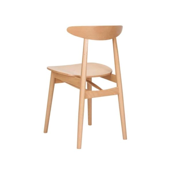Kitty Side Chair Wood Chair With Curved Back Rest DeFrae Contract Furniture Back View