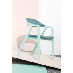 Layer armchair curved back Billiani at DeFrae Contract Furniture Ambient Baby Blue