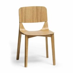 Leaf Side Chair Natual Wood Restaurant Chair Ton at DeFrae Contract Furniture