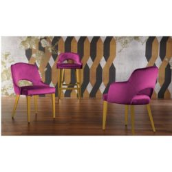London 2 Oval Wood Chair Legs Range ContractIn at DeFrae Contract Furniture
