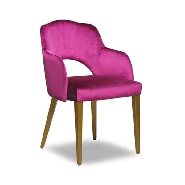 London Portobello Armchair Available From DeFrae Contract Furniture Pink Velvet