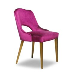 London Portobello Side Chair Available From DeFrae Contract Furniture Pink Velvet