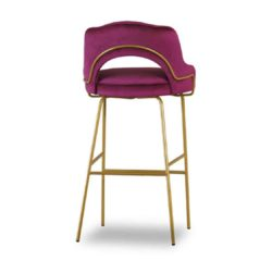London Portobello Tube Bar Stool Available From DeFrae Contract Furniture Pink Velvet