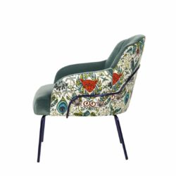 London Tube Lounge Chair Available From DeFrae Contract Furniture Patterned Fabric