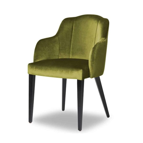 London Armchair Available From DeFrae Contract Furniture Green Velvet