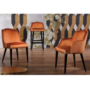 London chair range of armchair bar stool and side chair with tassles
