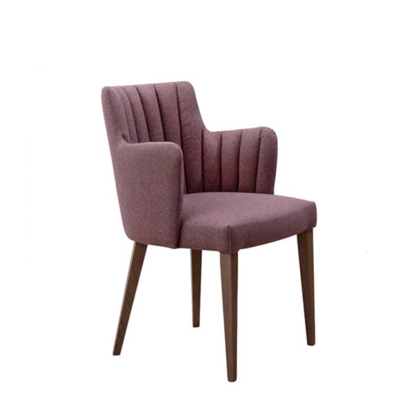 Louvre Fluted Wood Armchair ContractIn DeFrae Contract Furniture