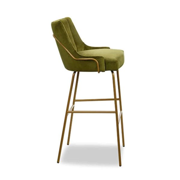 Louvre Tube Fluted Back Bar Stool ContractIn at DeFrae Contract Furniture